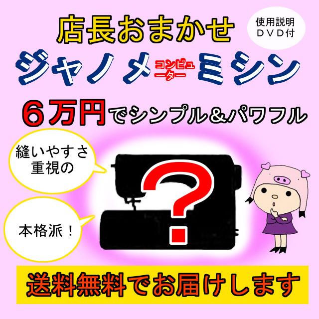 画像1: 店長おまかせジャノメコンピューターミシン(A)